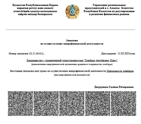 Лицензия рус